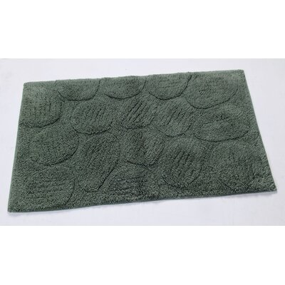 Castle Palm Bath Rug Size: 24 H X 17 W, Color: Green