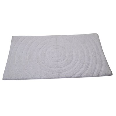 Castle Castle Hill 100% Cotton Echo Spray Latex Back Bath Rug Color: White, Size: 34 H X 21 W