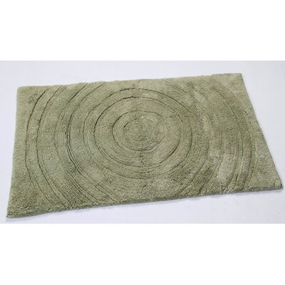 Felipe 100% Cotton Echo Spray Latex Back Bath Rug Size: 24 H X 17 W, Color: Light Sage