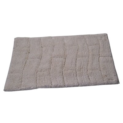 Castle 100% Cotton New Tile Spray Latex Back Bath Rug Size: 24 H X 17 W, Color: Ivory