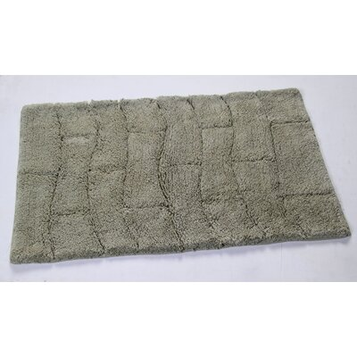 Castle 100% Cotton New Tile Spray Latex Back Bath Rug Size: 24 H X 17 W, Color: Light Sage