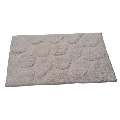 Castle Palm Bath Rug Size: 24 H X 17 W, Color: Ivory