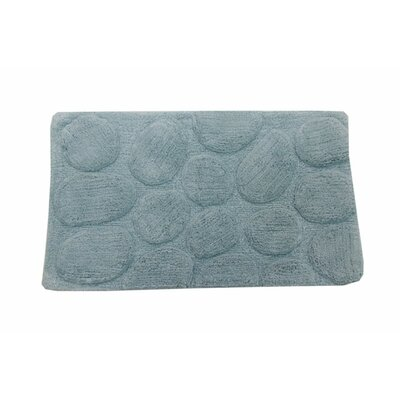 Castle Palm Bath Rug Size: 24 H X 17 W, Color: Light Blue