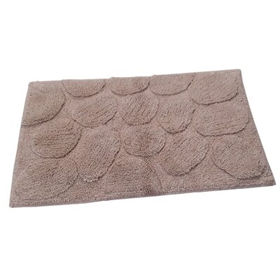 Castle Palm Bath Rug Size: 40 H X 24 W, Color: Natural