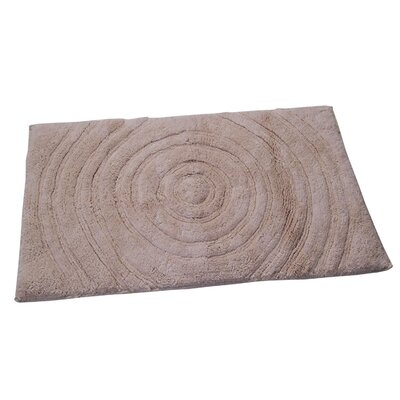 Castle Castle Hill 100% Cotton Echo Spray Latex Back Bath Rug Size: 24 H X 17 W, Color: Natural