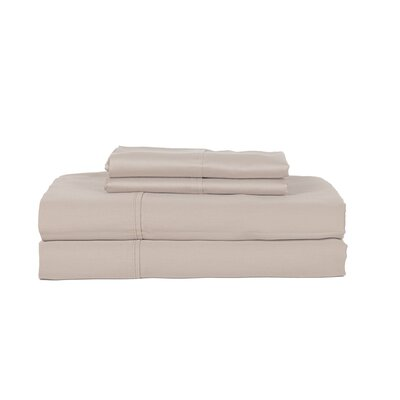 Castle Hill London 410 Thread Count Egyptian-Quality Cotton Sheet Set Color: Ash, Size: Queen
