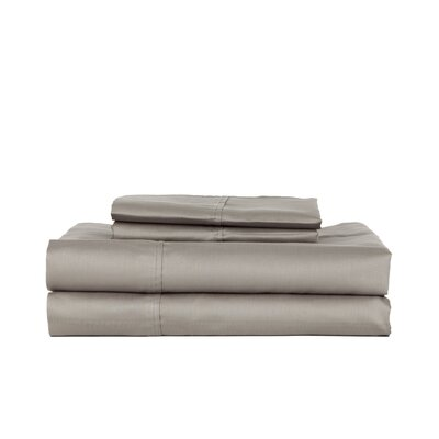Hobbes 450 Thread Count Egyptian Quality Cotton Sheet Set Size: Queen, Color: Gray
