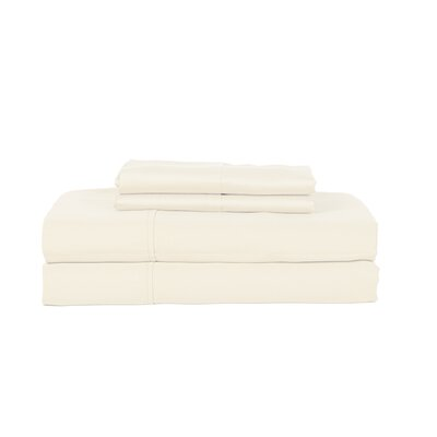 Castle Hill London 410 Thread Count Egyptian-Quality Cotton Sheet Set Color: Ivory, Size: Queen