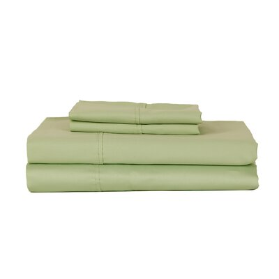 Hotel Concepts 320 Thread Count Egyptian Quality Cotton Sheet Set Size: Full, Color: Celedon