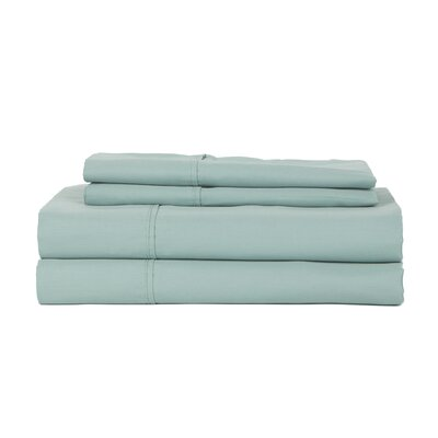 Castle Hill London 410 Thread Count Egyptian-Quality Cotton Sheet Set Size: Full, Color: Aqua