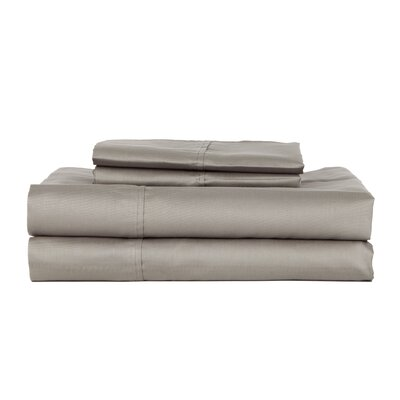 Castle Hill London 410 Thread Count Egyptian-Quality Cotton Sheet Set Color: Gray, Size: King