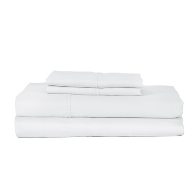 Hotel Concepts 320 Thread Count Egyptian Quality Cotton Sheet Set Color: White, Size: Queen