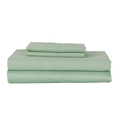 Castle Hill London 410 Thread Count Egyptian-Quality Cotton Sheet Set Size: Twin, Color: Ocean Blue