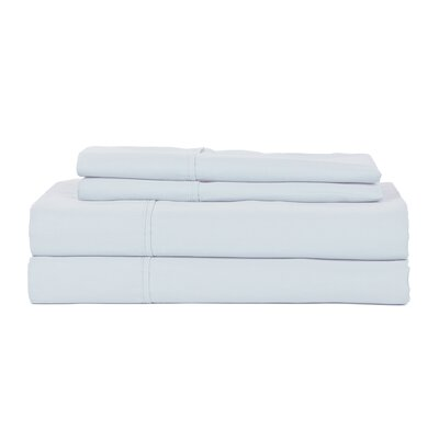 Castle Hill London 410 Thread Count Egyptian-Quality Cotton Sheet Set Color: Light Blue, Size: Queen