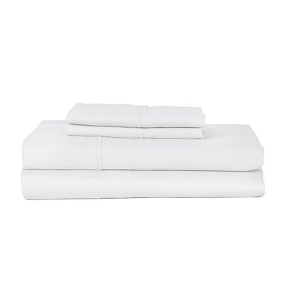 Castle Hill London 410 Thread Count Egyptian-Quality Cotton Sheet Set Size: King, Color: White