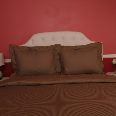 Castle Hill London Duvet Set Color: Cocoa, Size: Queen
