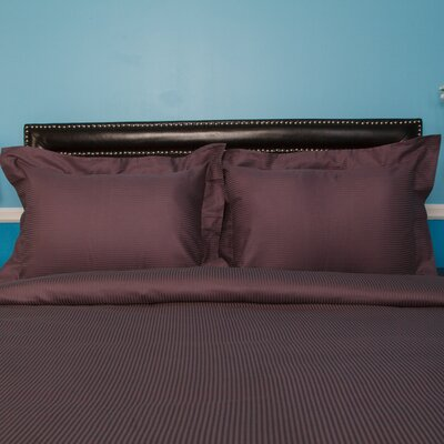 Castle Hill London Duvet Set Color: Grape, Size: Full