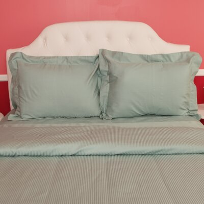 Castle Hill London Duvet Set Color: Ocean Blue, Size: Full