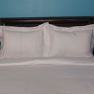 Castle Hill London Duvet Set Color: White, Size: Full