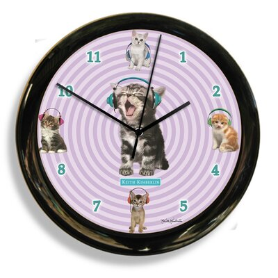 Headphones Cat by Keith Kimberlin Clock 41601