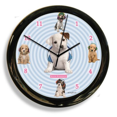 Headphones Dog by Keith Kimberlin Clock 41602