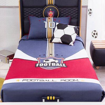 Soccer Cotton 3 Piece Twin Comforter Set
