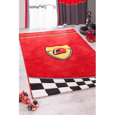 Champion GTI Racer Red/Yellow Area Rug
