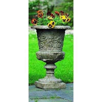 Round Urn Planter Size: Small, Finish: Pietra Vecchia