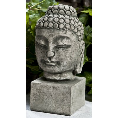 Serene Buddha Bust Statue Color: Alpine Stone, Size: Medium OR-147-AS