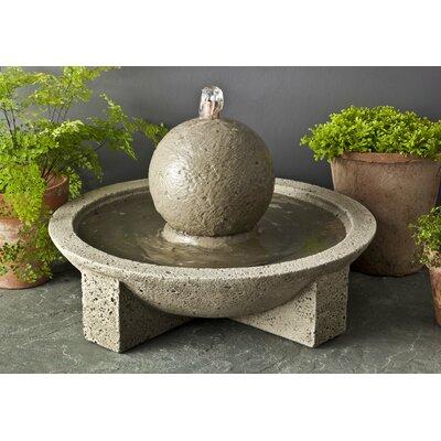 Campania International, Inc Garden Terrace Concrete Sphere Fountain FT-159-AS