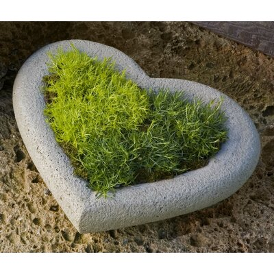 Garden Terrace Heart Cast Stone Pot Planter Finish: Alpine Stone, Size: Large P-443-AS