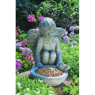 Cherub Bird Feeder Finish: Brownstone