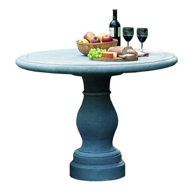 Palladio Bistro Table Finish: Aged Limestone