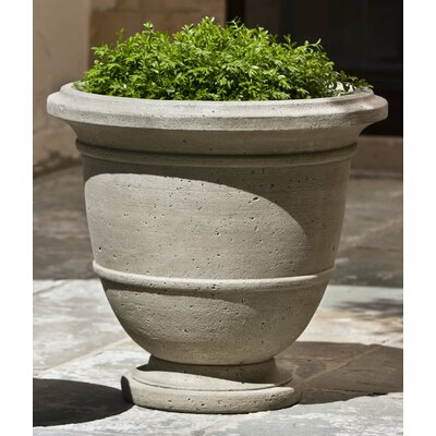 Round Urn Planter Finish: Brownstone, Size: Small
