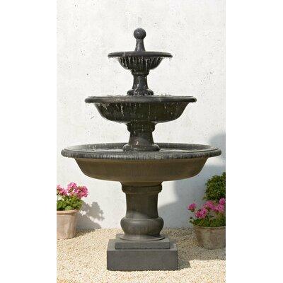 Vicobello Cast Stone Fountain Finish: Greystone