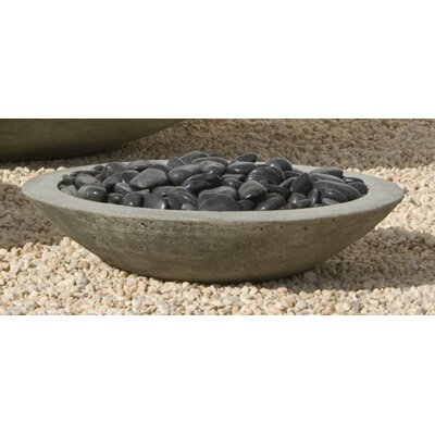 Zen Cast Stone Pot Planter Size: Large, Finish: Alpine Stone P-502-AS