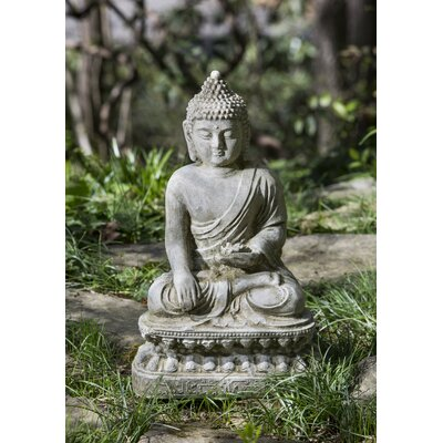 Seated Lotus Buddha Statue Color: Alpine Stone OR-134-AS