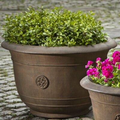 Cast Stone Pot Planter Size: Medium, Finish: Alpine Stone P-592-AS
