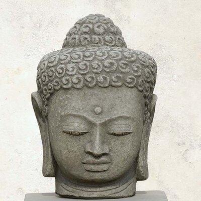 Antique Buddha Head Statue Color: Alpine Stone OR-38-AS