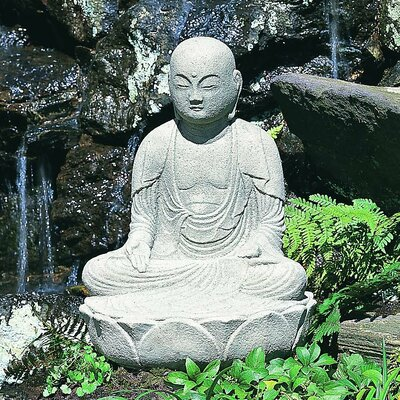 Morris Seated Buddha Statue Color: Alpine Stone OR-27-AS