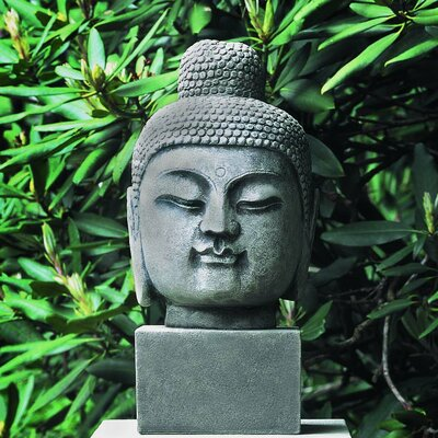 Antique Buddha Head Statue Color: Alpine Stone OR-34-AS