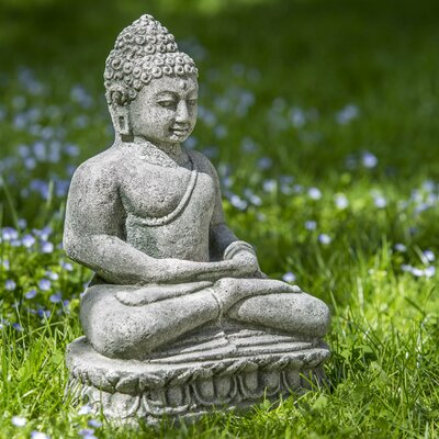 Rustic Antique Buddha Statue Color: Alpine Stone OR-135-AS