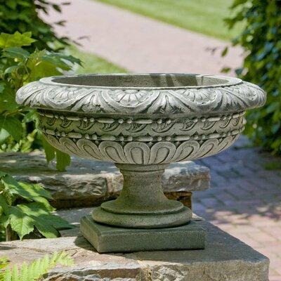 Cardine Rosette Cast Stone Urn Planter Finish: Aged Limestone