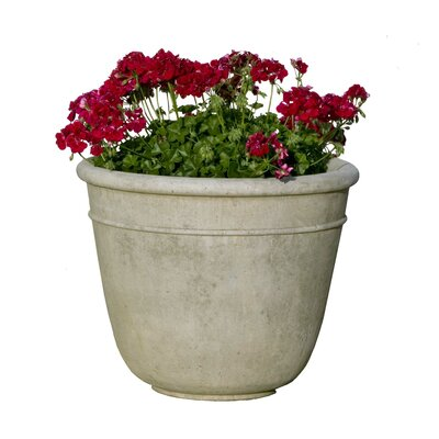 Cast Stone Pot Planter Size: Large, Finish: Alpine Stone P-421A-AS