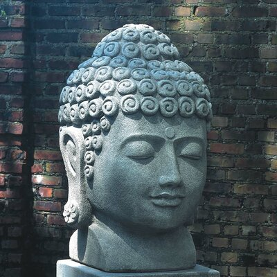 Temple Buddha Head Statue Color: Alpine Stone OR-32-AS