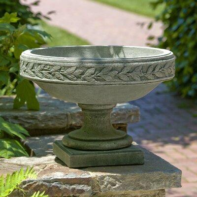Cardine Laurel Banded Cast Stone Urn Planter Finish: Aged Limestone