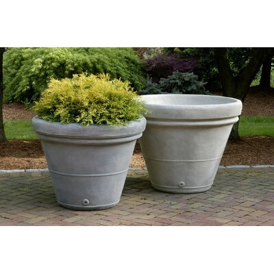 Estate Round Pot Planter Finish: Alpine Stone, Size: Medium P-403B-AS