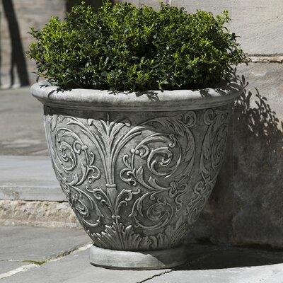 Arabesque Round Pot Planter Finish: Alpine Stone, Size: Medium P-517-AS