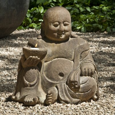 Abaca Buddha Statue Color: Alpine Stone OR-123-AS
