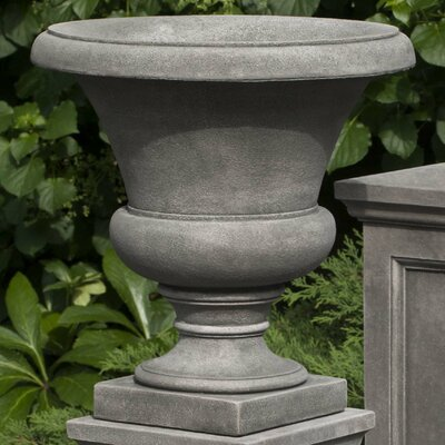 Mt. Airy Round Urn Planter Finish: Aged Limestone